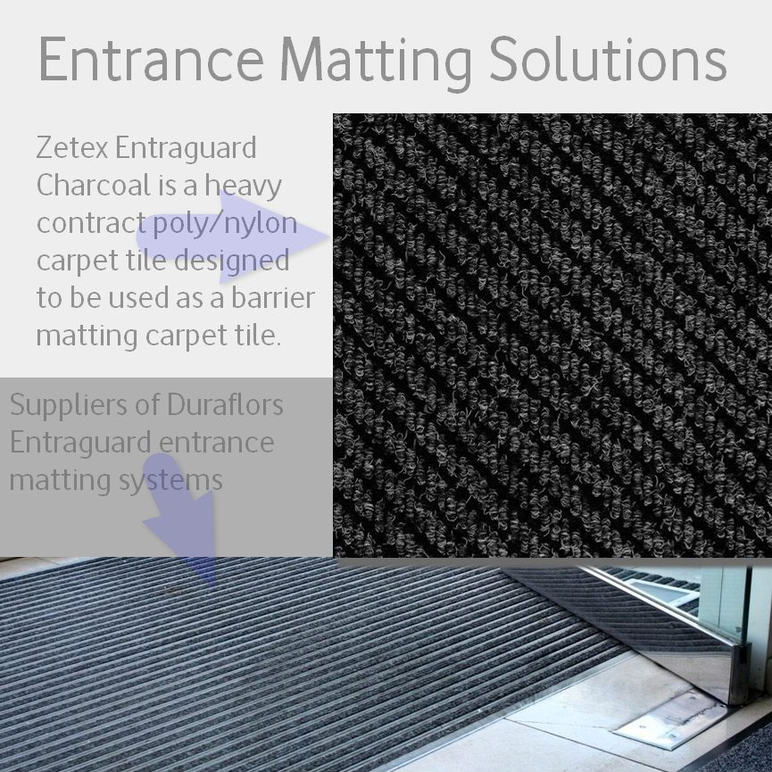 Ideal for entrances, reception areas and doorways. The diagonal grooves that run across the tiles trap dirt and moisture while leaving the surface clean. Colour choices available.
